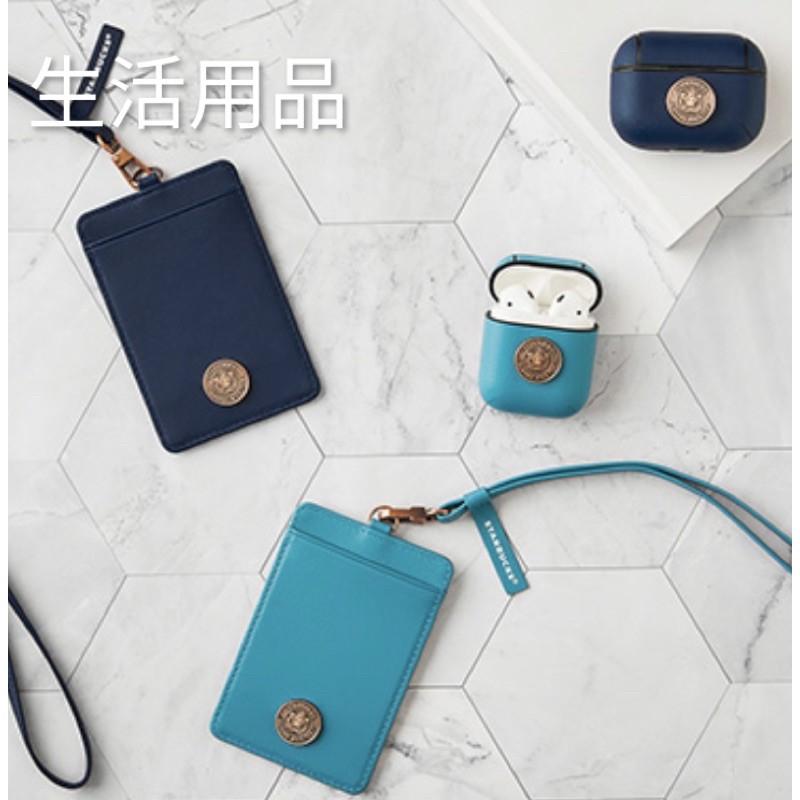 Starbucks 星巴克 AirPods/ AirPods Pro 復古 藍銅章女神保護套。證件保護套
