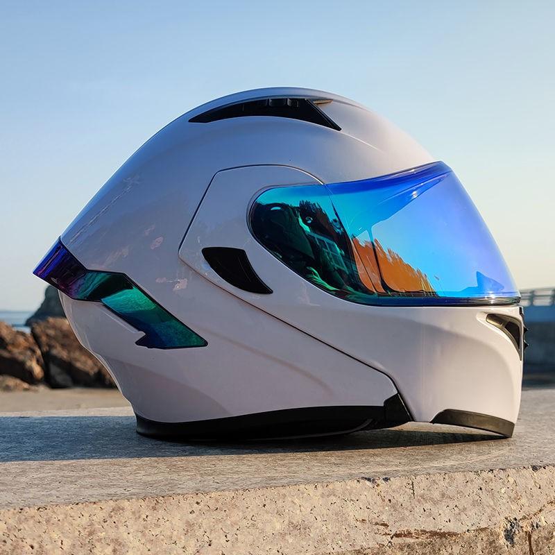 現貨 ORZ摩托車頭盔全盔跑盔個性酷全覆式機車男女四季通用安全帽網紅