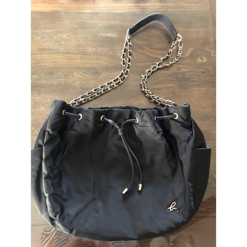 Agnes b. 黑色水桶鏈袋包 大