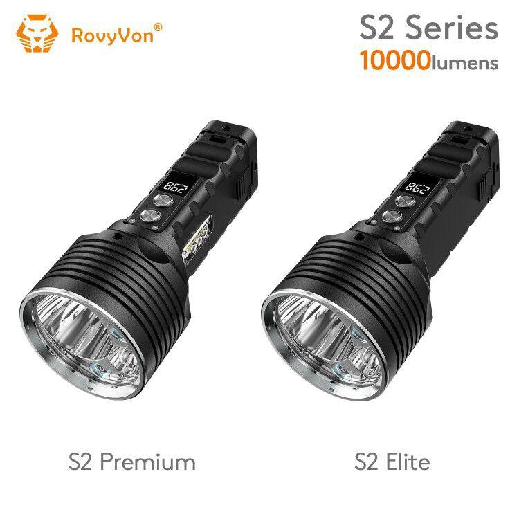 RovyVon S2 10000流明聚光和泛光搜索手電筒