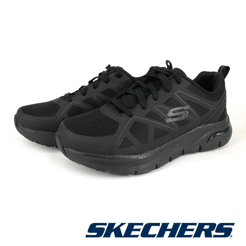 【SKECHERS】 男 工作鞋系列 ARCH FIT SR-AXTELL -200025W - 寬楦版 - 黑色