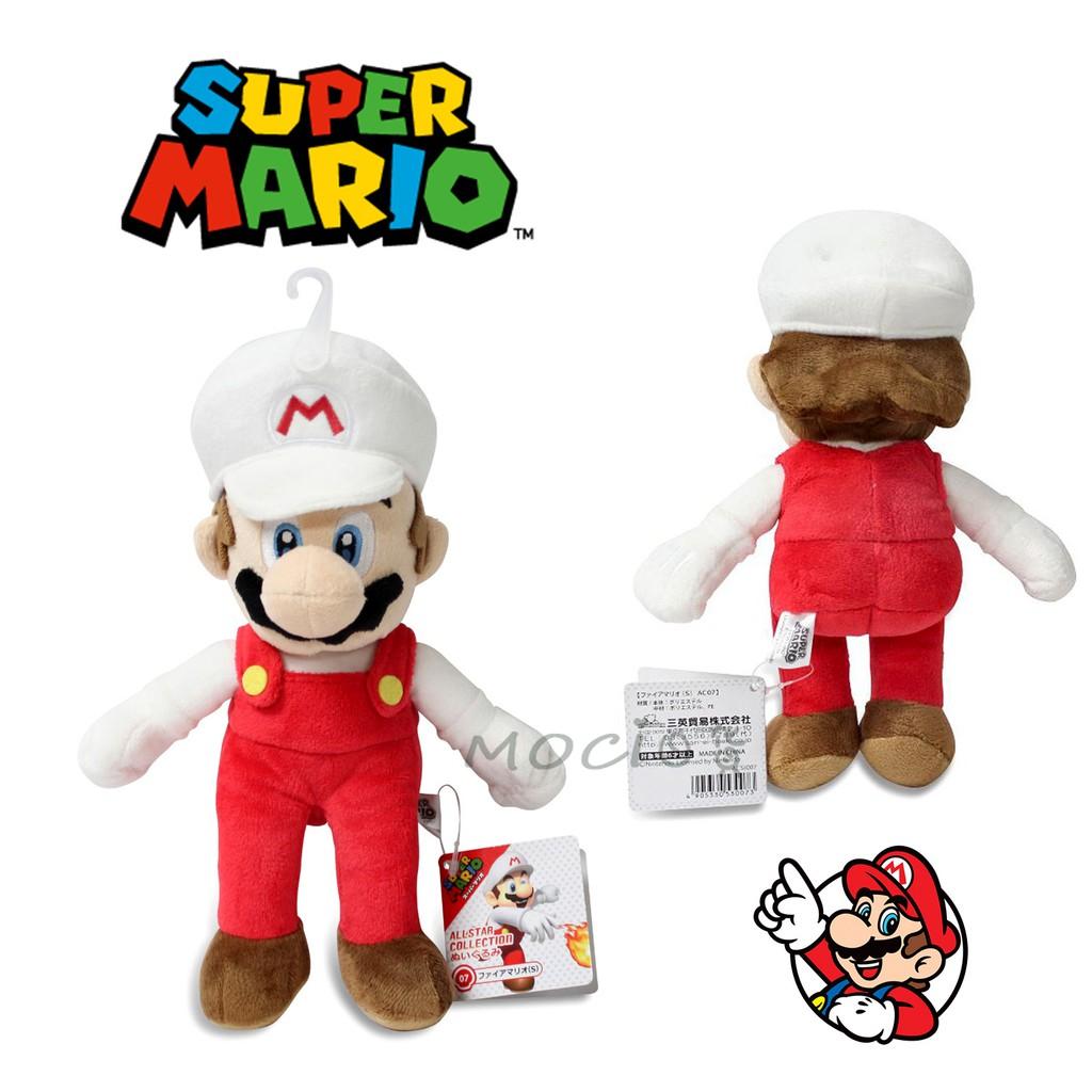日本正版 超級瑪莉歐 白帽 瑪利歐 瑪莉兄弟  娃娃 玩偶 公仔 玩具擺飾S 任天堂  馬力歐【MOCI日貨】MARIO