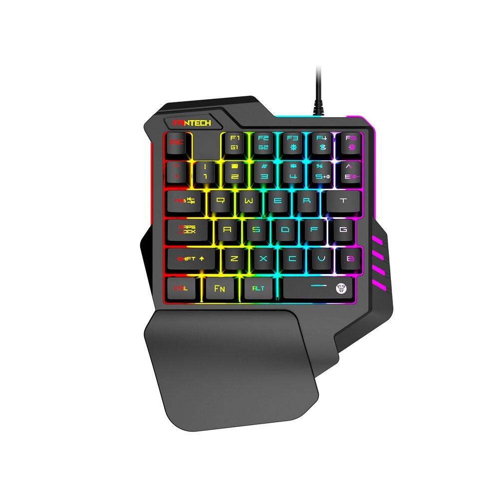 【曜買電腦&鍵盤】FANTECH K512 混光多彩燈效 單手電競鍵盤 RGB 薄膜鍵盤 (英文版)