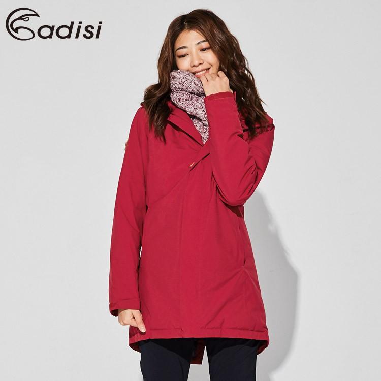 ADISI 女防水透氣長版羽絨保暖連帽外套 AJ1721019