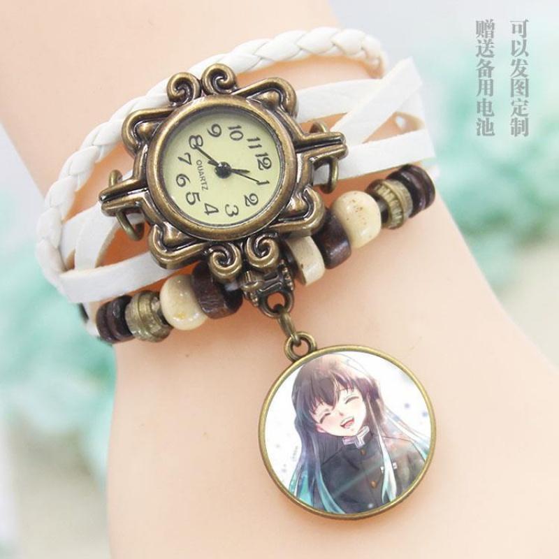 鬼滅之刃 時透無一郎 週邊同款 手錶照片定製 手鍊錶 創意 同學朋友禮物