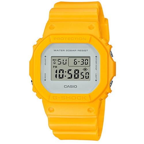 【CASIO】G-SHOCK 經典簡約數位設計休閒錶-黃(DW-5600CU-9)