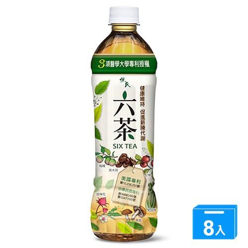 悅氏六茶550ML x4入【兩入組】【愛買】