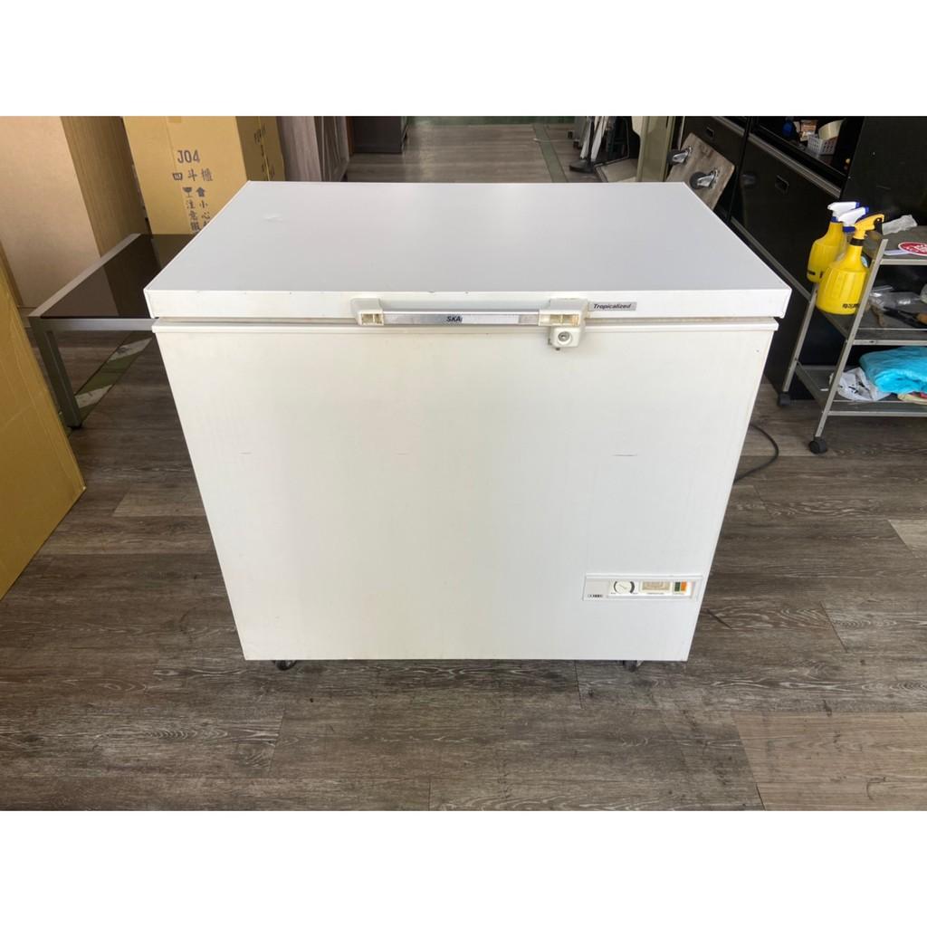 吉田二手傢俱❤丹麥Skandiluexe3尺冷凍櫃 臥式冰箱 臥式冰櫃 上掀式冰箱 上掀式冷凍櫃
