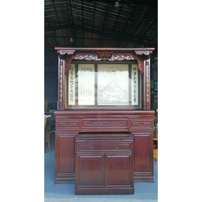 鑫高雄駿喨二手貨家具(二手及全新買賣)---【花梨木】5.8尺 佛桌 神明桌 上下桌 供桌 神桌