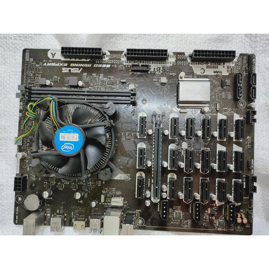 Asus B250 MINING EXPERT挖礦主機板,送intel CPU+風扇(送的東西價值千元以上)