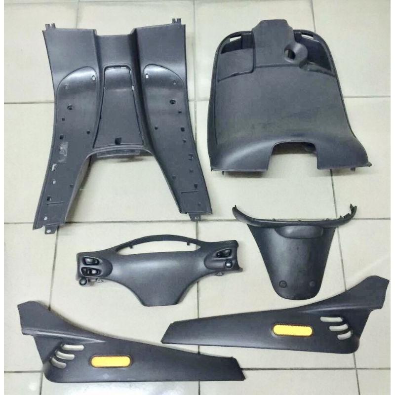 vespa et8 義製原裝全套~灰藍色染色件素材近全新品