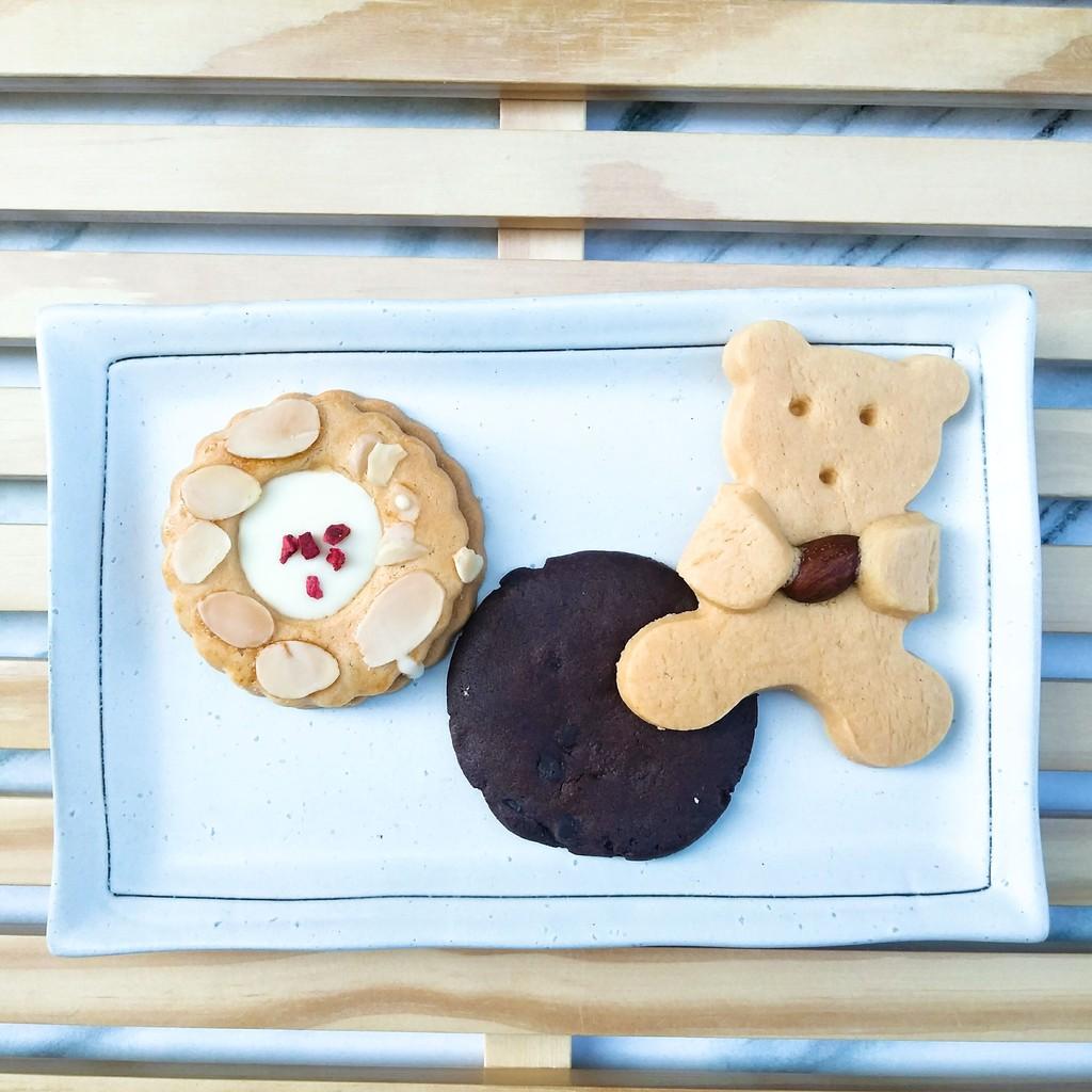 [媚力泊] MENIPPE手工餅乾 三入暢銷組合 造型餅乾 巧克力餅乾 沙布蕾 小熊餅乾
