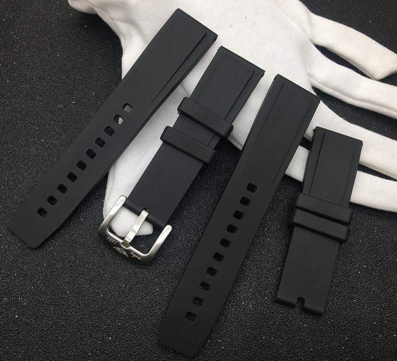 錶帶配件 適配Breitling百年靈基本款黑鳥復仇者海洋文化硅膠手錶帶22mm色