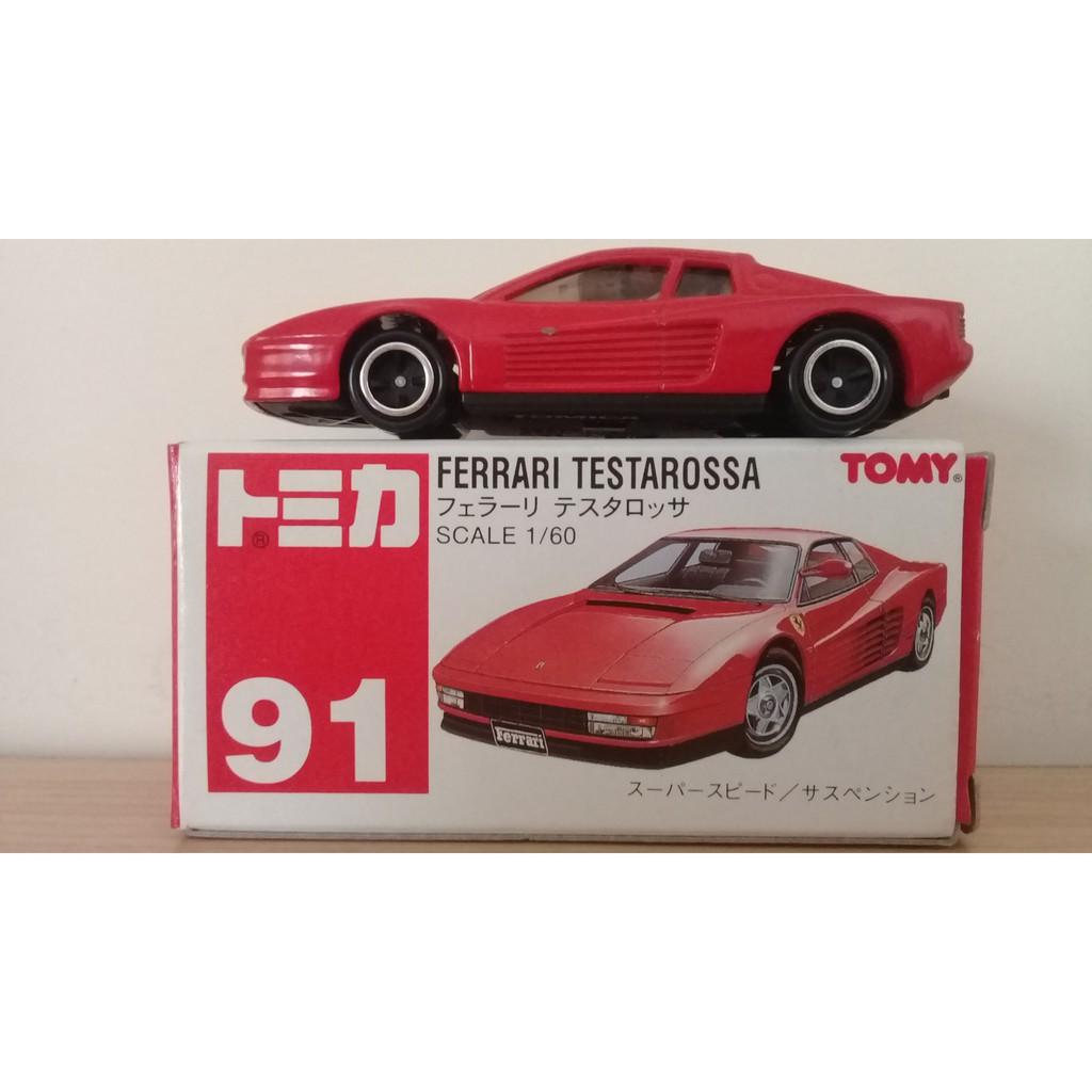 TOMICA 91 絕版 紅標 Ferrari Testarossa