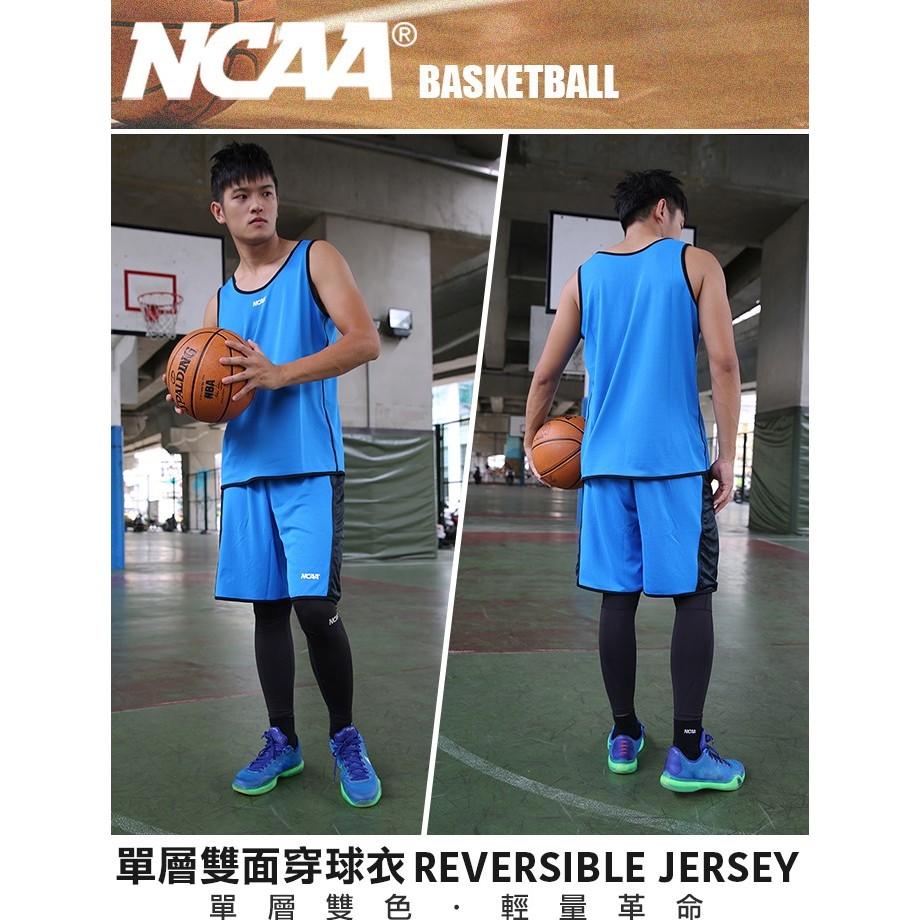NCAA 球衣球褲 運動褲 運動背心 北卡大學 JORDAN 吸濕排汗 單層雙面穿 淺藍 男女可穿