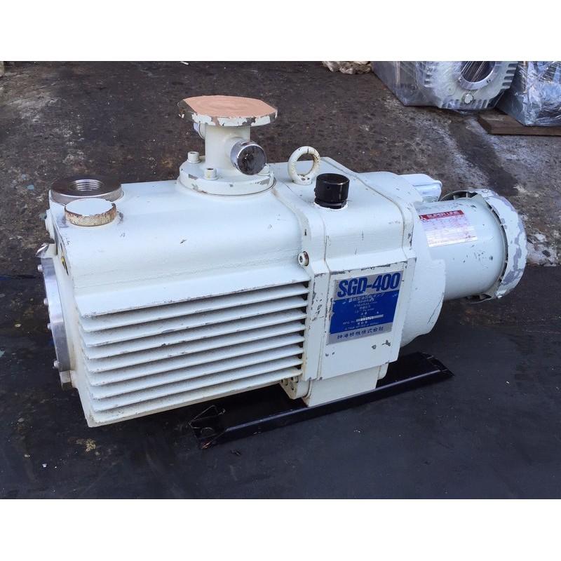 (我最便宜)日本製神港油式真空幫浦SHINKO SGD-400(1HP)-真空脫泡機/含浸/各式真空製程可用