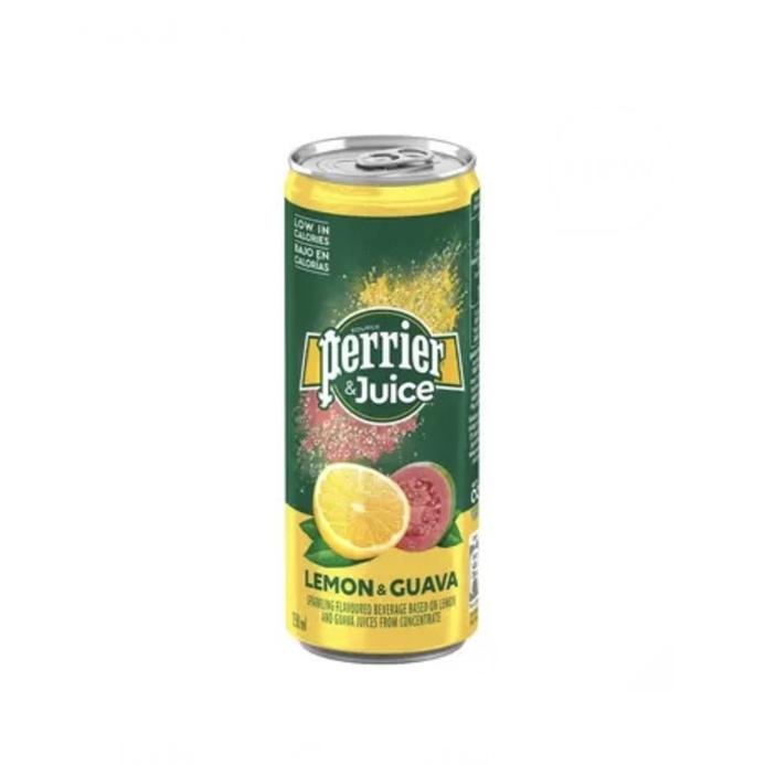 Perrier 沛綠雅 氣泡綜合果汁 檸檬芭樂口味 250毫升 X 24入ฅ好市多宅配到府