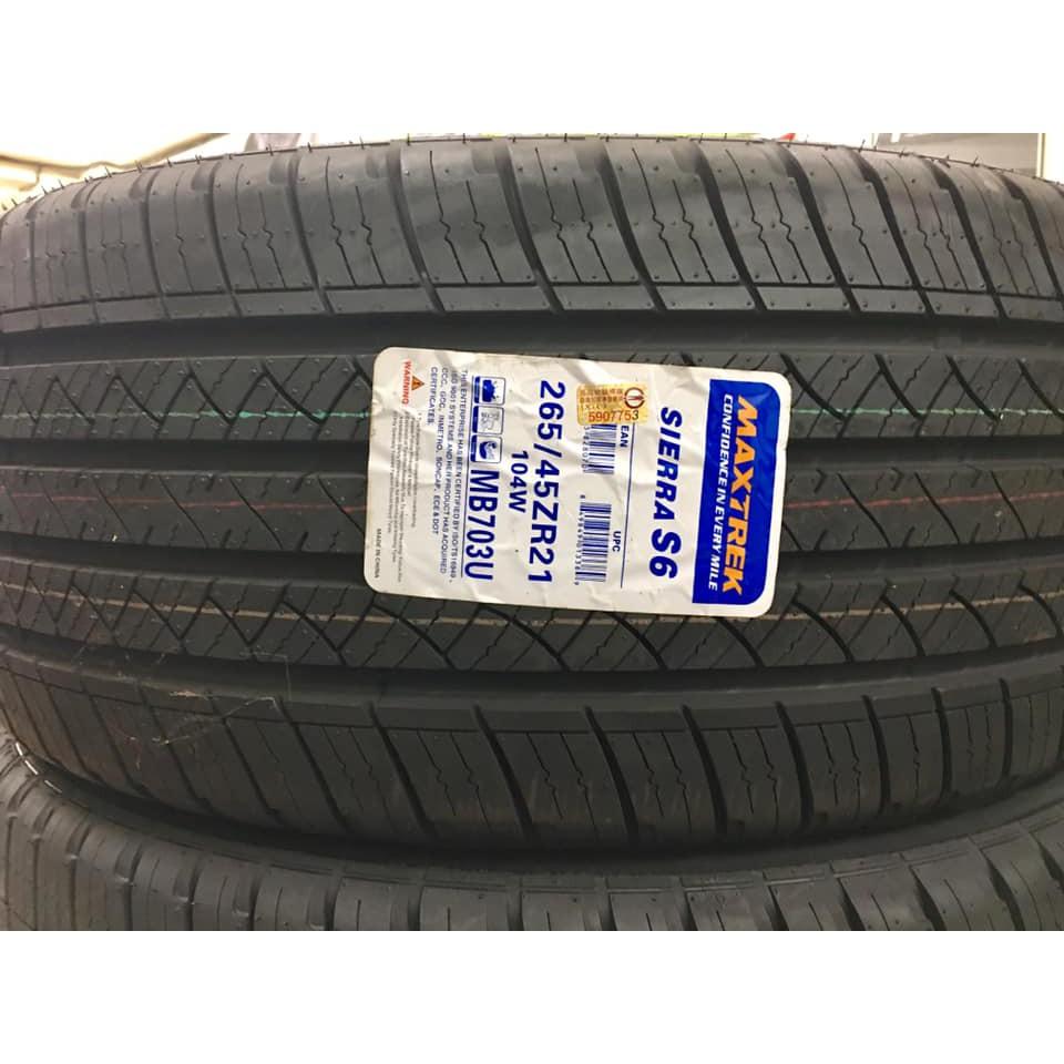 【優質輪胎】新迪斯S6全新胎_265/45/21_(D400 SP01 SF5000 FX35)三重區