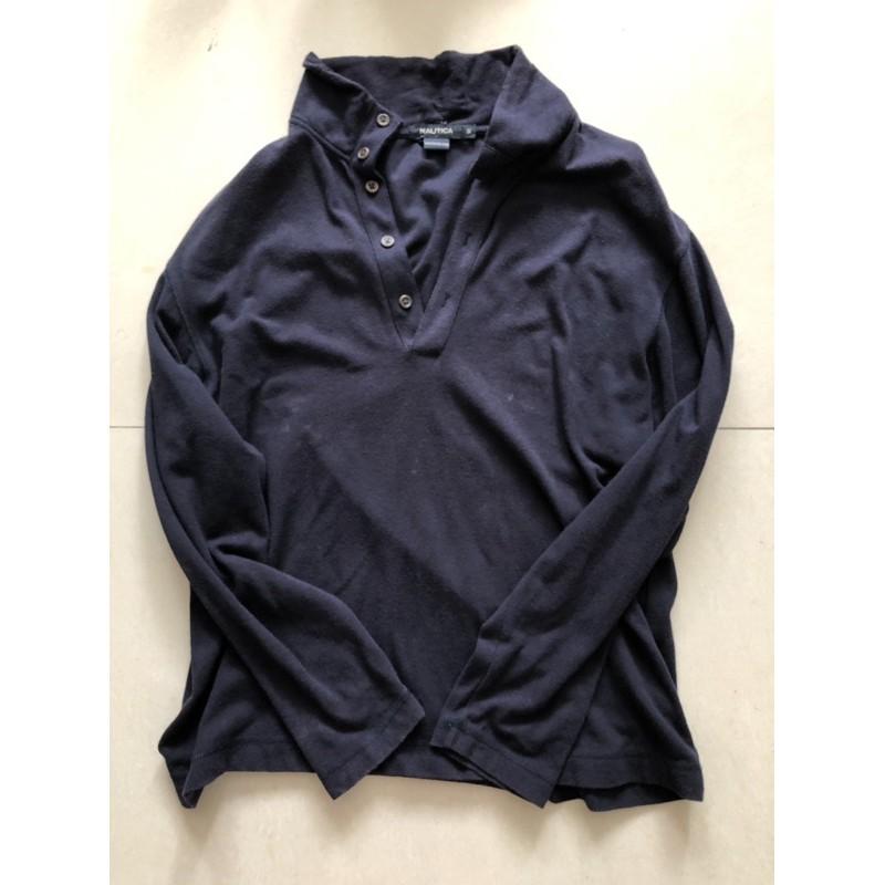二手品Nautica 黑色 圓領 Polo衫