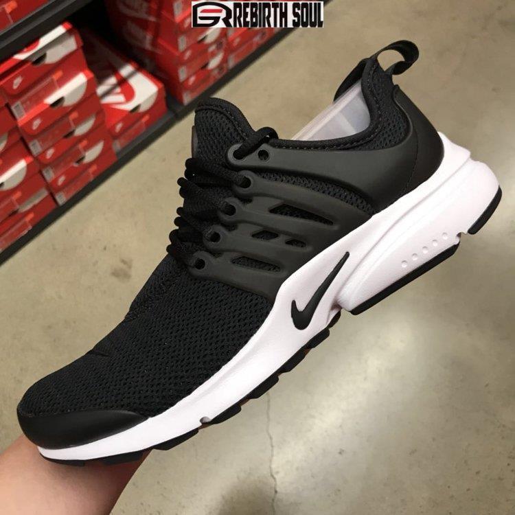 【RS只賣正品】NIKE AIR PRESTO 878068-001 黑白 魚骨 網狀 襪套鞋 女慢跑鞋