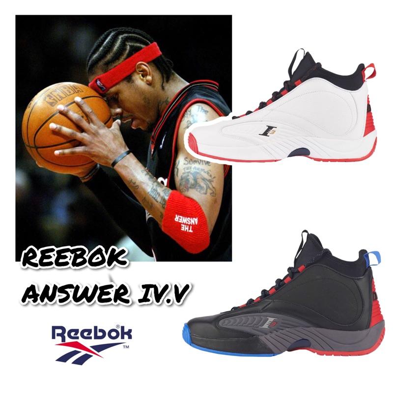REEBOK ANSWER IV.V 艾佛森 4.5代 籃球鞋 費城76人 主場白CN6848 客場黑CN5841