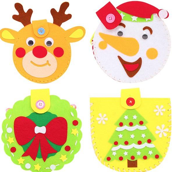 聖誕節DIY手作不織布側背包材料包 斜背包 材料包【XM0243】《Jami》