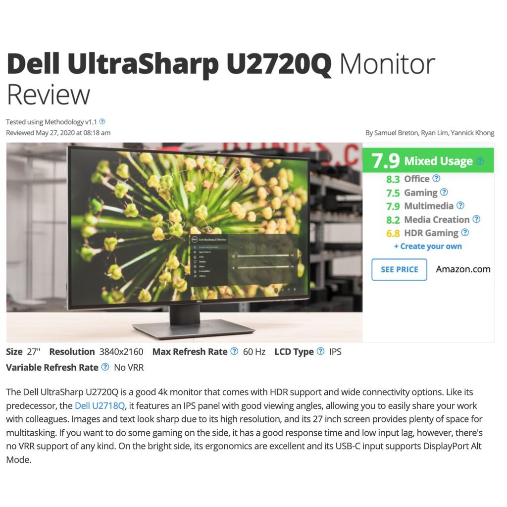 DELL 全新  2720Q / 2720QM / U2720Q / U2720QM type-c 4K HDR