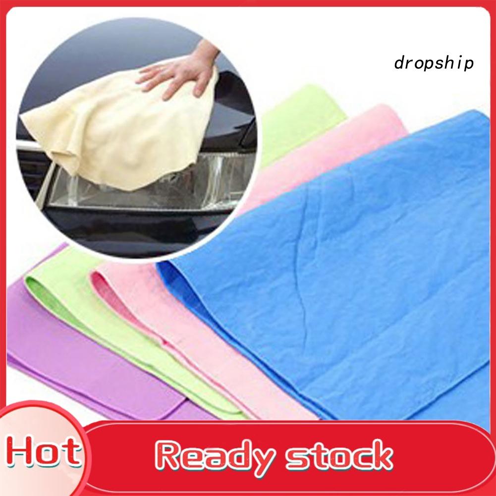 [Terlaris] 魔術毛巾布吸收劑合成 Chamois 皮革製品洗車頭髮乾燥