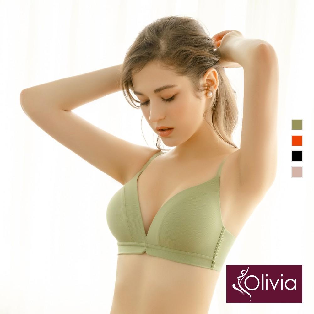 Olivia【曖昧系列-馬卡龍戀人】蜜糖簡約零著感一片式內衣-4色