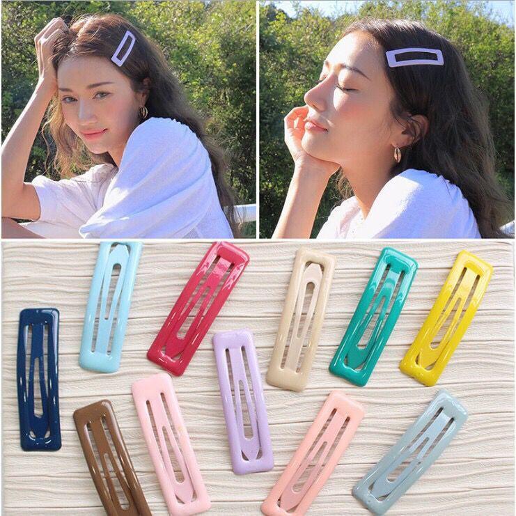 現貨🔥ins韓國少女風彩色髮夾BB夾一字夾糖果彩色夾邊夾F80