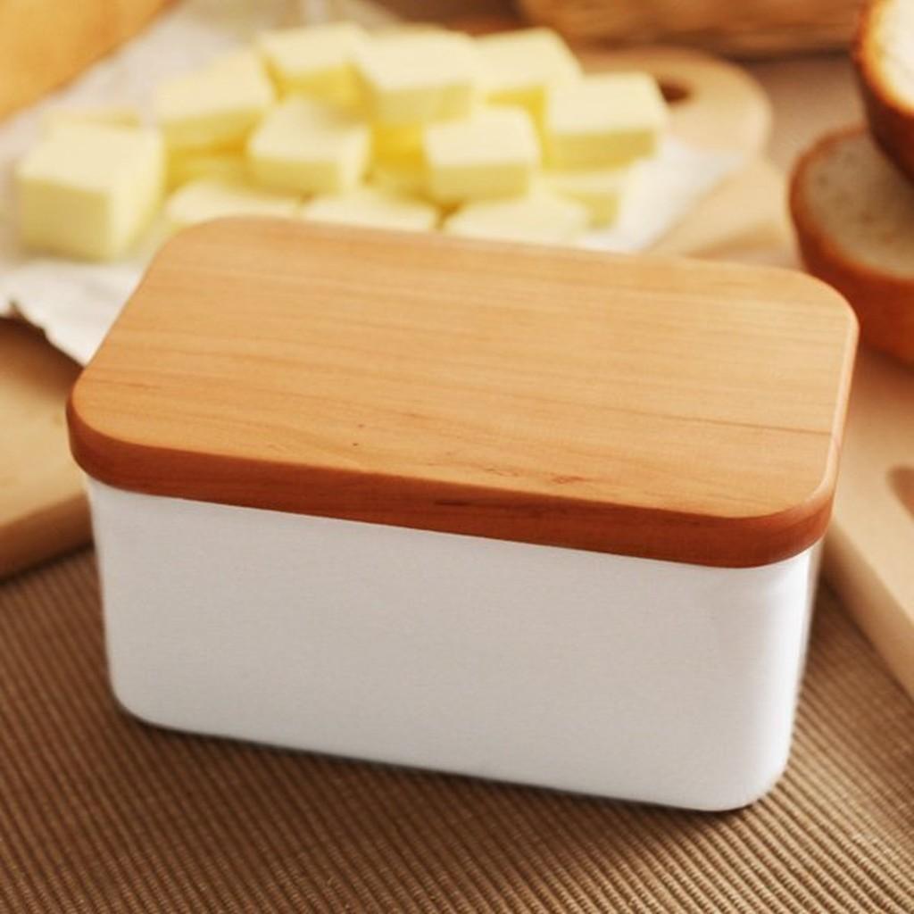 [ 偶拾小巷 ] 日本製 野田琺瑯 白色奶油盒 450g