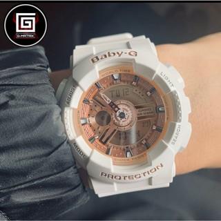 CASIO 卡西歐 Baby-G 情侶款 運動手錶 人氣經典率性手錶 玫瑰金白 街頭率性風格腕錶 BA-110-7A1 桃園市