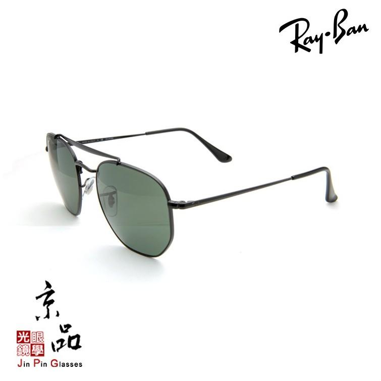【RAYBAN】RB3648 002/58 黑框 偏光墨綠鏡片 將軍款 雷朋太陽眼鏡 公司貨 JPG 京品眼鏡