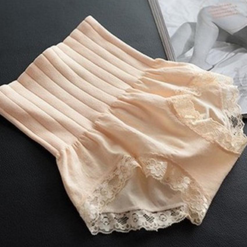 【免運】無縫高腰收腹提臀暖宮蕾絲塑身打底內褲蕾絲花邊彈力顯瘦內褲