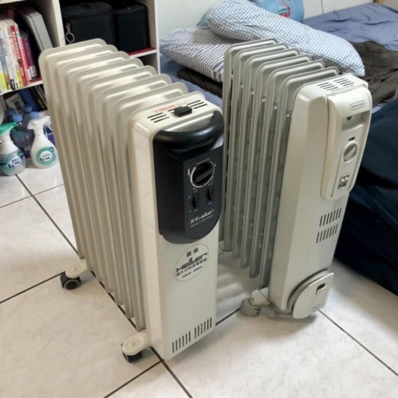 嘉儀葉片式電暖器-二手,嘉儀、DeLonghi,八片、六片,商品狀況很好
