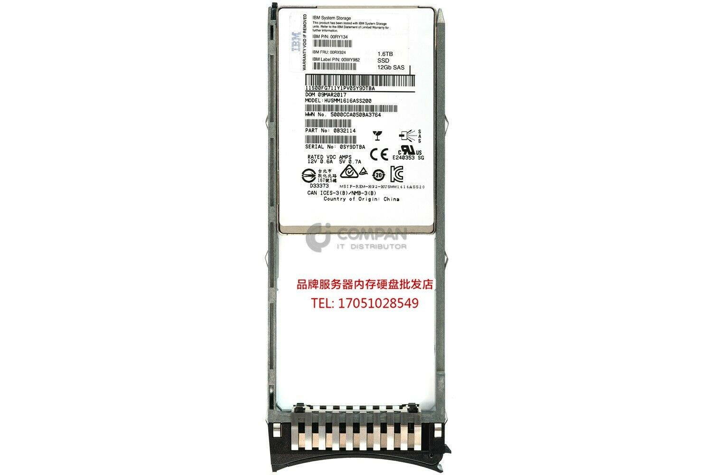 IBM FRU 00RX924 1.6TB 1.6T SAS 2.5 6GB V5000 Gen1 存儲硬盤