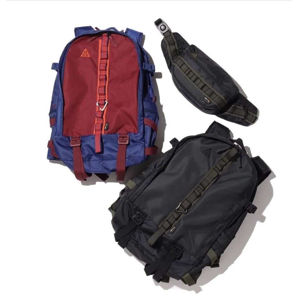Files - NIKE ACG 登山 工裝 後背包 限量 三層 筆電 A4 CK7510-010 黑 492 藍