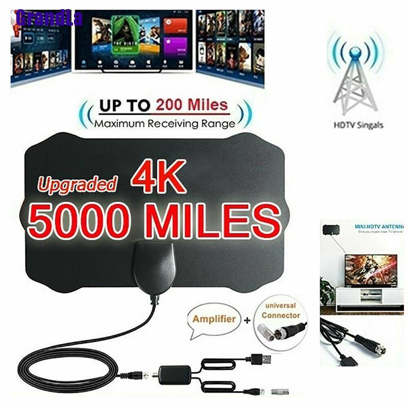 5000 英里範圍 Hdtv 天線 4k 高清室內數字電視天線天線信號放大器