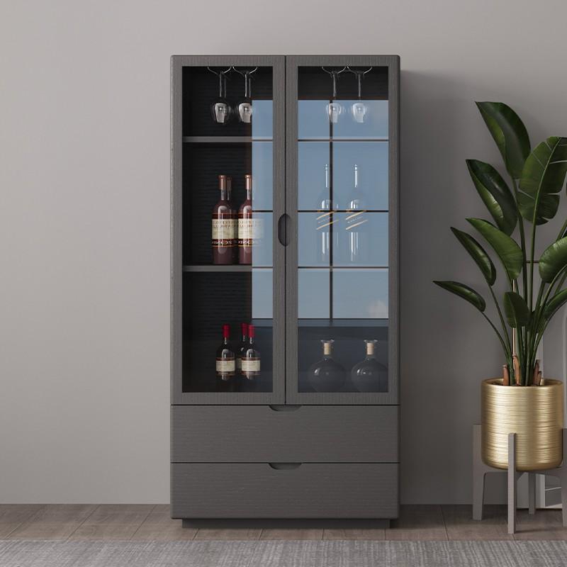 【虎發家私】酒柜靠墻客廳現代簡約家用餐邊柜邊柜意式極簡玻璃門收納玄關柜
