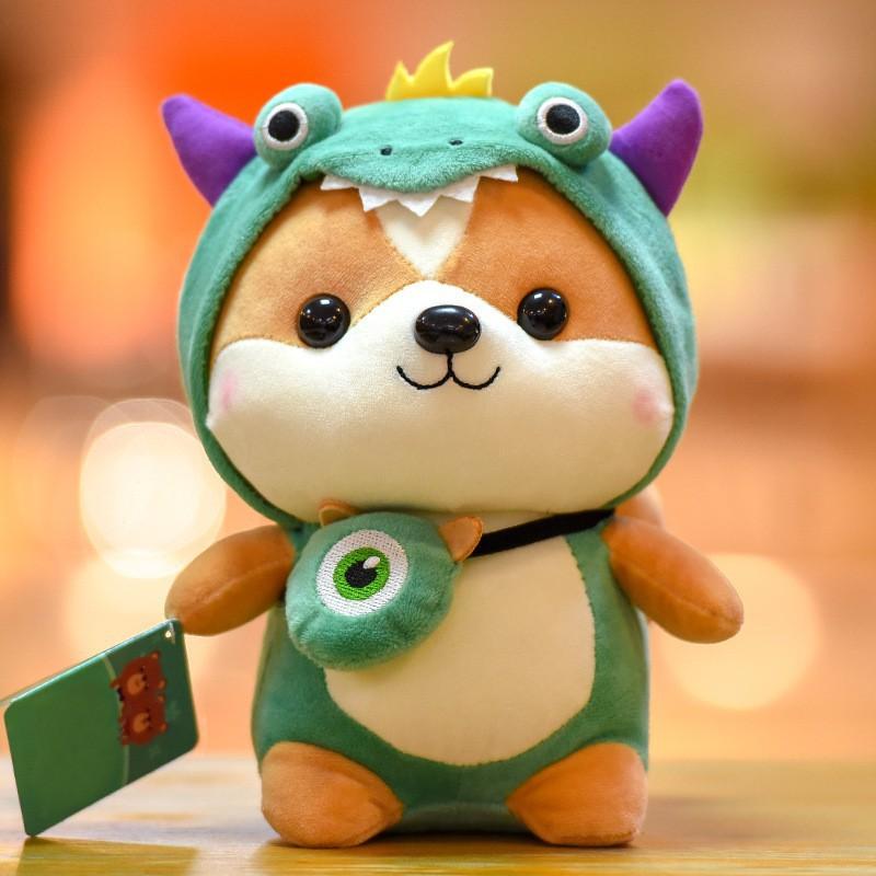 ☆歡迎光臨☆新春特惠創意松鼠公仔可愛變身恐龍毛絨玩具兒童玩偶送女生日禮物布娃娃
