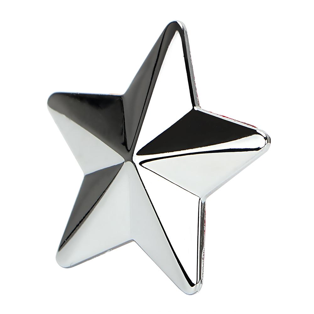 汽車3D立體仿金屬貼 金屬車貼 排量標 改裝 星星 五角星 銀色 金色