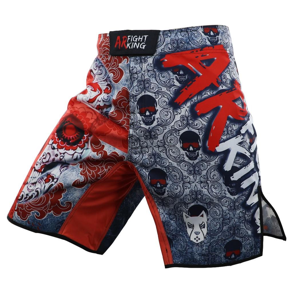 《硬派運動》ARFIGHTKING 綜合格鬥褲 英倫骷髏