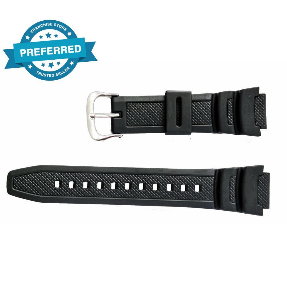 原裝卡西歐手錶帶, 用於雙傳感器 SGW 100 SGW 100 1V 黑色錶帶橡膠 H6J8