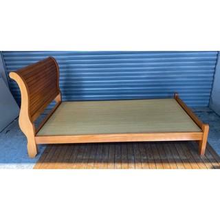 【樂居二手家具館】全新中古傢俱家電 B0221BJJC 實木單人床架 中古床組 床底 床墊 床頭櫃 床架 台北台中新竹