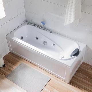 【免運 快速寄出】亞克力獨立式雙裙邊歐式衝浪恆溫按摩家用長方形浴缸1.2-1.8新品 新北市