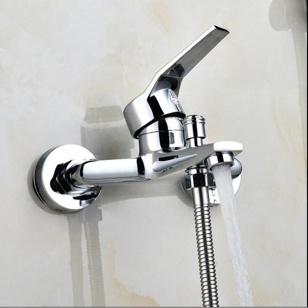 冷熱水龍頭 MWZ全銅淋浴龍頭浴室暗裝三聯冷熱混水閥開關浴缸花灑水龍頭帶下
