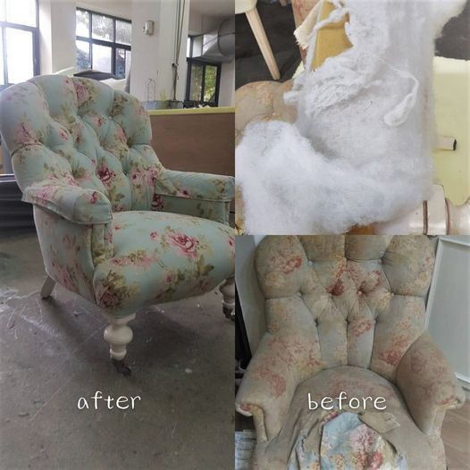 ‧°∴GOOD先生 ∴°‧  台中沙發修理專家 椅墊變形修繕 換皮換布 換泡棉 用餐椅換皮 鄉村布沙發換布