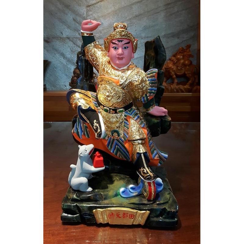 1尺3 樟木實木雕刻 田都元帥 戲曲之神 神像金身