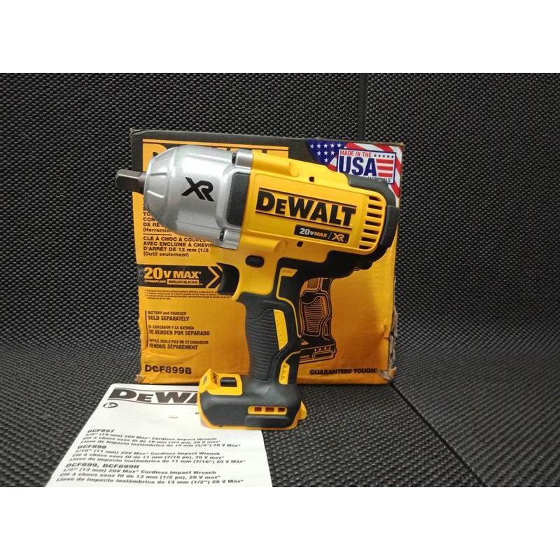 【橋頭工具】全新 美國製造 得偉899 DEWALT DCF899 20V 無刷 強力型 衝擊扳手 電動扳手