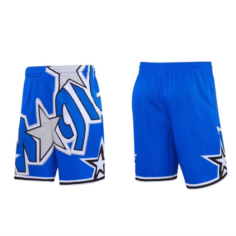 運動短褲 籃球褲 慢跑褲 五分褲 NBA 魔術隊 NIKE同款 復古 口袋 透氣 排汗 健身 訓練